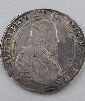 Foreign museum silver coin of Hungary, extremely rare and valuable, 1590-hqq
