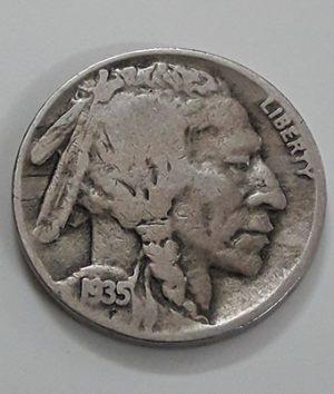American 5 cents foreign coin known as 1935 Buffalo coin-hql