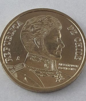 Foreign coins of the beautiful design of Chile in 2011-fgh