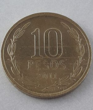 Foreign coins of the beautiful design of Chile in 2011-hgf