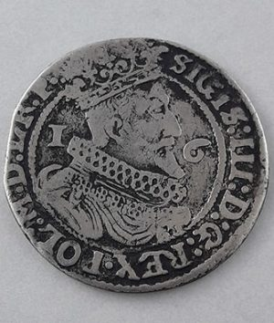 Polish foreign museum silver coin Danzig Sigismund III 1625 unique in Iran-syy