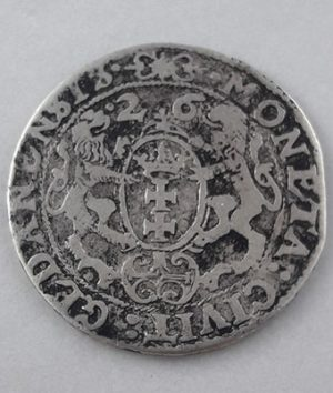 Polish foreign museum silver coin Danzig Sigismund III 1625 unique in Iran-ysy