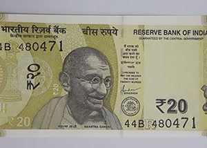 Foreign banknotes of India in 2019-whh