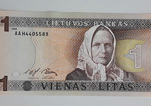 Foreign banknote of the beautiful design of Lithuania in 1994 (m)-qkk
