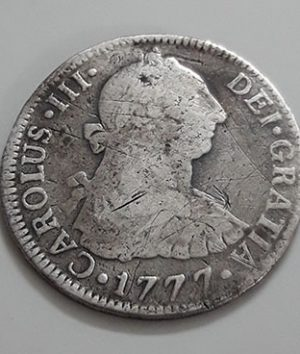 Foreign silver coin A very rare museum of the Spanish colony of Spain Picture of Francisco Antonio 1777-qyy
