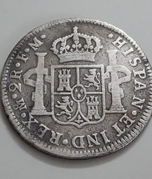 Foreign silver coin A very rare museum of the Spanish colony of Spain Picture of Francisco Antonio 1777-yqy