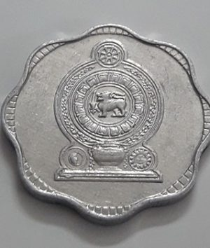 Foreign coin of the beautiful design of Sri Lanka in 1991-eaa