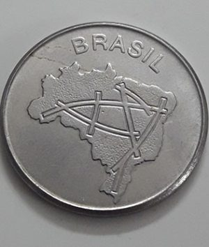 Foreign coin of the rare design of Brazil in 1984-ejj