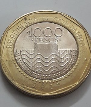 Beautiful and rare two-metal foreign coin from Colombia, 2017 turtle design-oro
