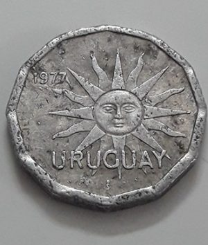 Foreign coin, beautiful and rare design of Uruguay, 1977-txx