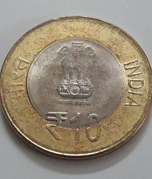 Foreign bimetallic commemorative coin of India-jtj