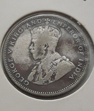 Foreign silver coin of King George V of Malaysia, Unit 20, 1927-tkk