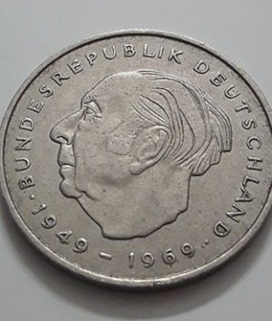 Collectible foreign coins, 2 commemorative brands, beautiful and rare, Germany, 1969-ugg