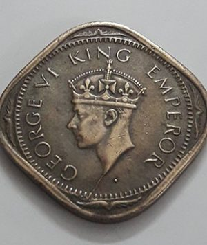 Collectible foreign coins of the beautiful design of India, British colony of King George VI-izz
