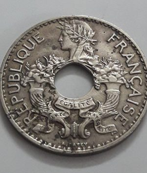 Extremely rare and valuable foreign coin of India and China, colony of France in 1939-ihh