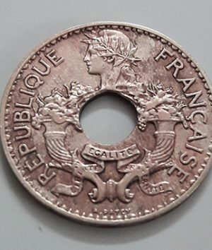 Extremely rare and valuable foreign coin of India and China, colony of France, 1938-wcc