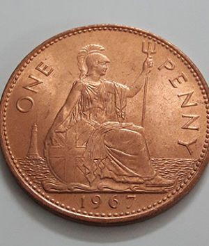 British penny collectible foreign coin 1967 (with glazed super bank quality)-wgg