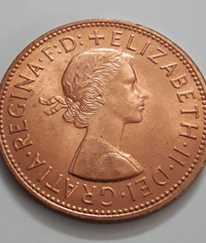 British penny collectible foreign coin 1967 (with glazed super bank quality)-gwg