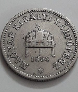 Foreign coin of the rare design of Hungary in 1894-pqz