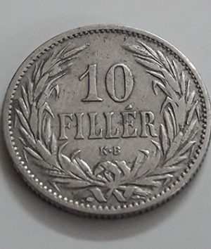 Foreign coin of the rare design of Hungary in 1894-zqp