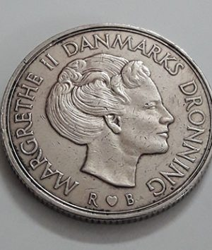 Foreign coin of the beautiful design of Denmark in 1985-olp