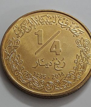 Foreign currency 1/4 Libyan dinar (bank quality)-nbv