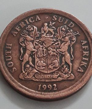 A very beautiful foreign coin from South Africa, Unit 5, 1992 Stork image-apa