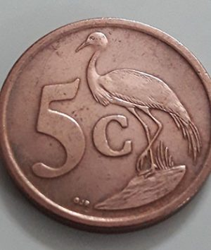 A very beautiful foreign coin from South Africa, Unit 5, Stork image, 2006-ass