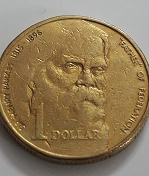 Australian one-dollar commemorative foreign coin of the Crown Queen of 1996-nma
