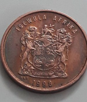 Foreign coin of a very beautiful design of the country of South Africa in 1998-aja