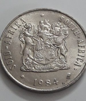 A very beautiful and rare foreign coin of the country of South Africa in 1984-aza