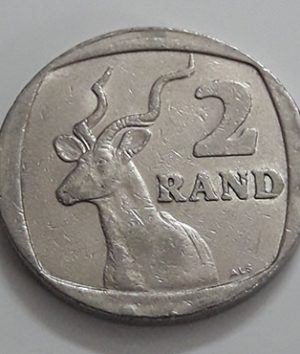 Foreign currency rare design of South Africa 2 rounds in 1996-sqq
