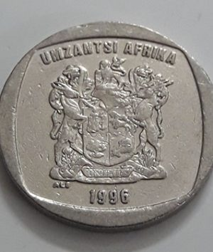 Foreign currency rare design of South Africa 2 rounds in 1996-sqs