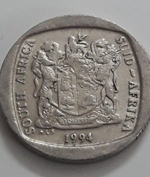 Foreign currency commemorative coin 1 round South Africa, a very beautiful and rare design of 1994-srs