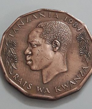 Foreign coin of beautiful and rare design of Tanzania, 1984-sts