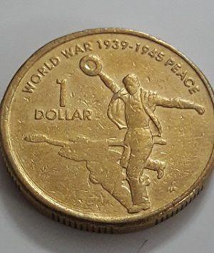 Australian one-dollar commemorative foreign coin Old Queen, 2005-asd