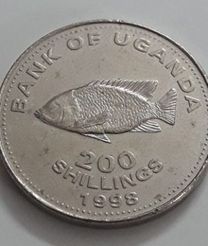 A very rare foreign coin designed by Uganda in 1998-sdd