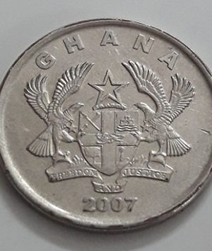 Foreign coin very rare design of Ghana in 2007-sgs