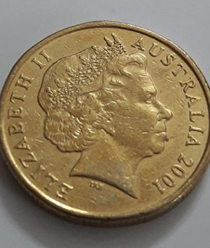 Australian one-dollar commemorative foreign coin Old Queen, 2001-fds