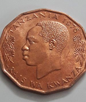 Foreign coin, very beautiful design of Tanzania, unit 5 (banking quality), 1976-dnd