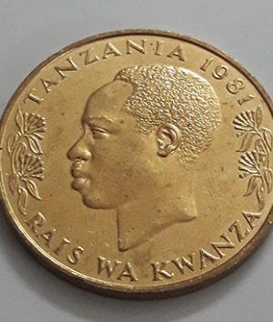 Foreign coin of a very beautiful and rare design of Tanzania (banking quality) 1981-dmd
