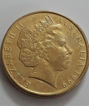 Old Australian one-dollar commemorative foreign coin, 1999-gfd