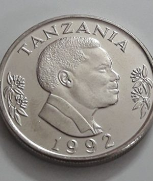 Foreign coin, very beautiful and rare design of Tanzania, unit 1, 1992-dsd