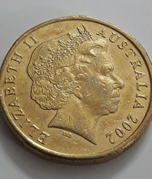 Old Australian one-dollar commemorative foreign coin, 2002-jhg