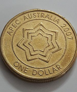 Australian one-dollar commemorative foreign coin Old Queen, 2007-hjk