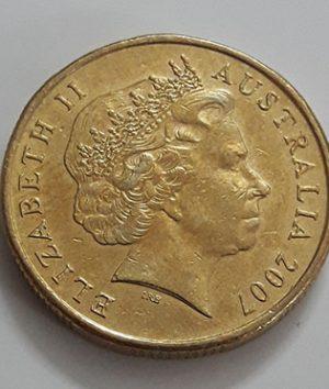 Australian one-dollar commemorative foreign coin Old Queen, 2007-kjh