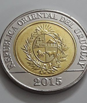 Beautiful and rare foreign metal coin of Uruguay 2015-nhy