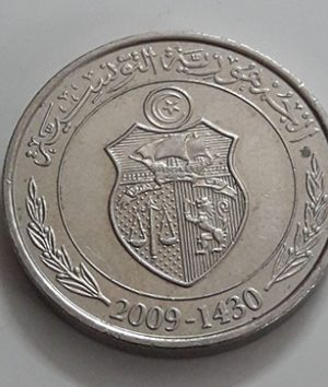 Tunisian commemorative foreign coin, 1.2 units, 2009-uyt