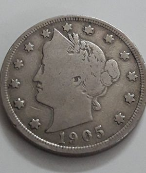 American 5 cents foreign currency 1905-czz