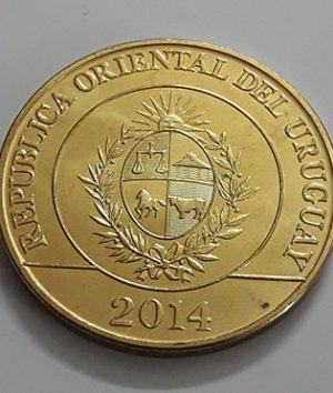 Foreign coin of beautiful design of Uruguay, unit 5, 2014-mju